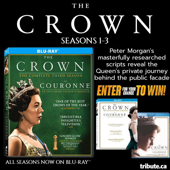 Enter for your chance to win The Crown Season 1-3 Blu-ray Contest