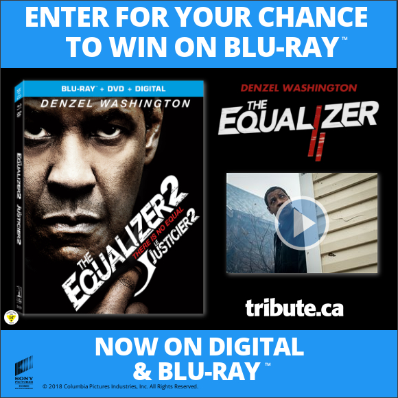 THE EQUALIZER 2 Blu-ray contest