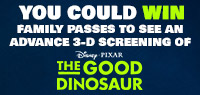 Win Advance Screening Family Passes to see The Good Dinosaur