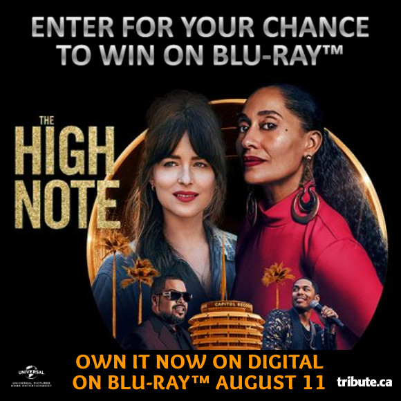 Enter for your chance to win THE HIGH NOTE on Blu-ray. Available now on Digital, On Blu-ray August 11th