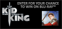 "Enter for your chance to win ""THE KID WHO WOULD BE KING"" on Blu-ray. Available now on Blu-ray & Digital."