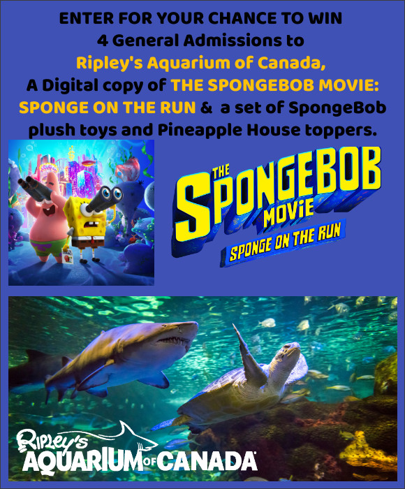 THE SPONGEBOB MOVIE: SPONGE ON THE RUN Digital Copy, Toys & Aquarium Tickets Contest
