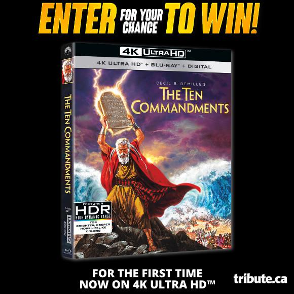 THE TEN COMMANDMENTS 4K ULTRA HD Contest