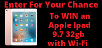 Enter for your chance to win an APPLE 9.7 IPad with 32gb & Wifi. Value over $400