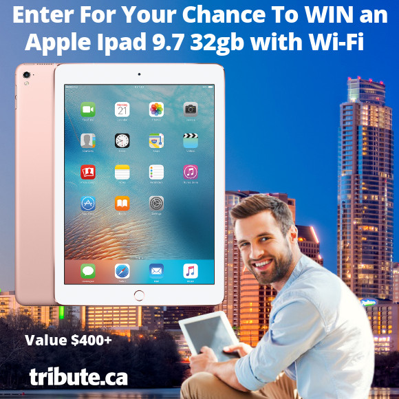 Tribute Win An Apple 9.7 32GB Ipad contest