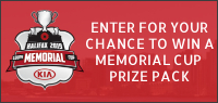 Enter for your chance to win tickets to the MEMORIAL CUP and a Prize Pack