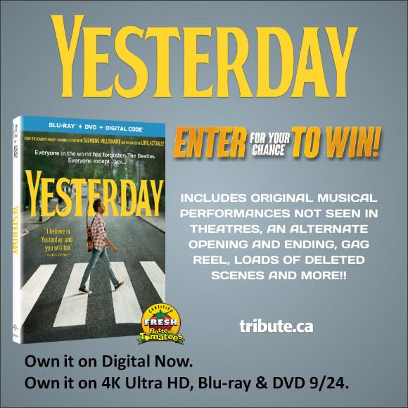 YESTERDAY Blu-ray contest