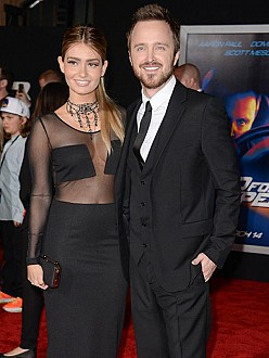 Aaron Paul and wife Lauren Parsekian Paul