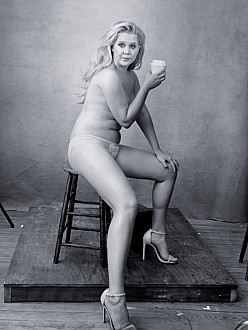 Amy Schumer's Pirelli Calendar pose