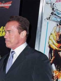 Arnold Schwarzenegger at Last Stand premiere in London