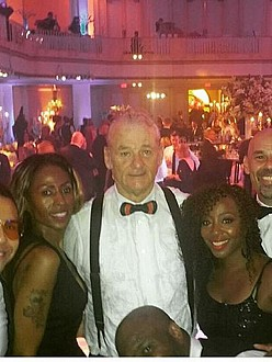 Bill Murray and the wedding band (c) Instagram