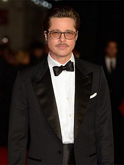 Brad Pitt at the Fury premiere in London