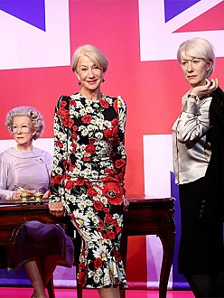 Dame Helen Mirren with wax models