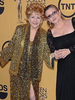 Debbie Reynolds and Carrie Fisher at the Screen Actors Guild awards