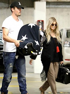 Fergie and Josh Duhamel with son Axl