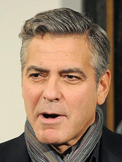 George Clooney at the UK premiere of `The Monuments Men`