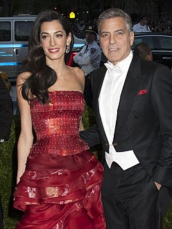 George Clooney with Amal