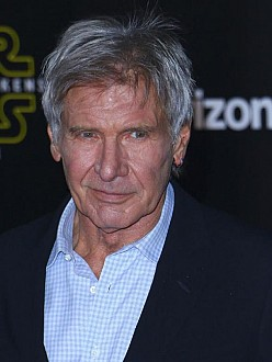 Harrison Ford at the Star Wars premiere in LA