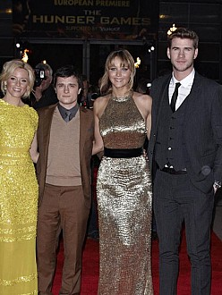 Hunger Games stars Elizabeth Banks, Josh Hutcherson, Jennifer Lawrence and Liam Hemsworth
