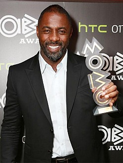 Idris Elba with his MOBO Award