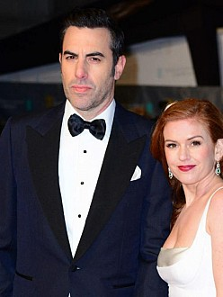Isla Fisher and Sacha Baron Cohen