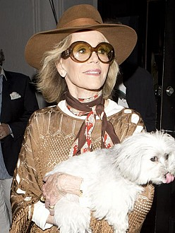 Jane Fonda's dog Tulea