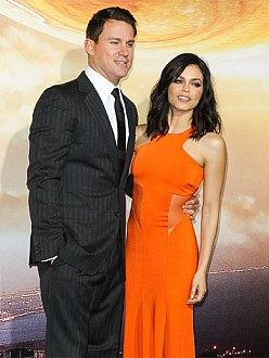 Jenna Dewan-Tatum and Channing Tatum at the LA Premiere of Jupiter Ascending