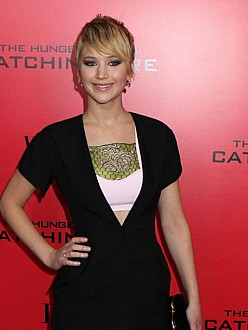 Jennifer Lawrence at NYC premiere of Catching Fire