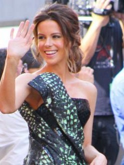 Kate Beckinsale at the premiere of Total Recall in LA