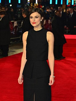 Keira Knightley at the `Jack Ryan: Shadow Recruit` premiere in London