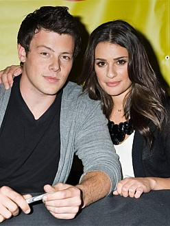 Lea Michele and the late Cory Monteith