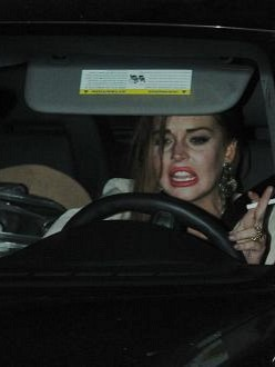Lindsay Lohan was involved in another car crash