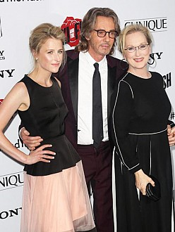 Meryl Streep with Rick Springfield and daughter Mamie Gummer at premiere
