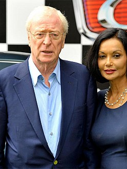 Michael Caine with his wife Shakira