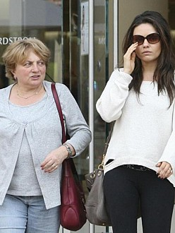 Mila Kunis with her mother
