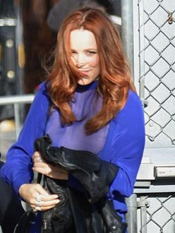 Rachel McAdams leaving the Jimmy Kimmel show