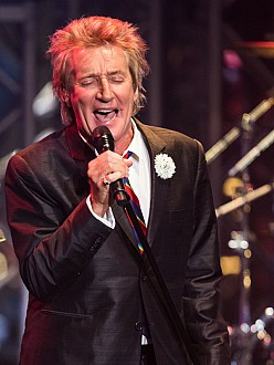Rod Stewart plays with train set every day