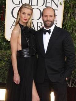 Jason Statham and Rosie Huntington-Whiteley take break