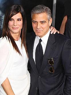 Sandra Bullock with George Clooney