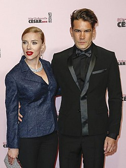 Scarlett Johansson and husband Romain Dauriac
