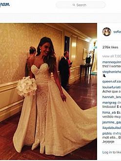 Sofia Vergara at her wedding (c) Instagram
