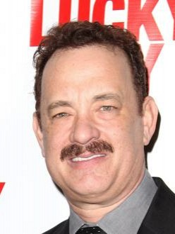 Tom Hanks at the opening of `Lucky Guy`