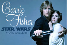 Carrie Fisher Star Wars Photo Gallery Poster