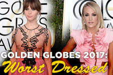 Golden Globes 2017: Worst Dressed Poster