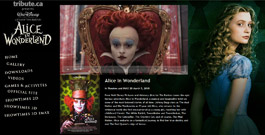 Alice In Wonderland movie site