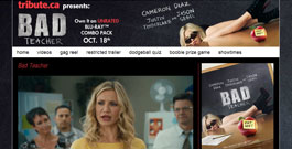 Bad Teacher movie site