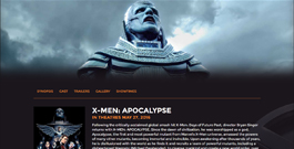 X-Men: Apocalypse movie site thumbnail