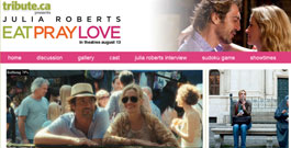 Eat Pray Love movie site