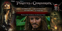 Pirates of the Caribbean movie site