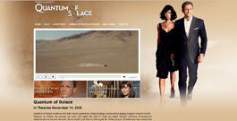Quantum of Solace 007 movie site